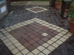 Tiled front porch area