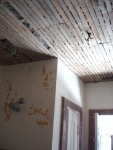 lath board ceiling