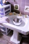 basin in sink