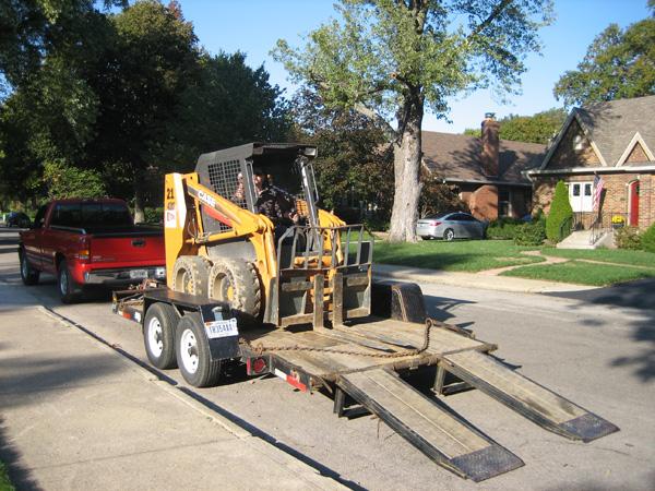 unloading the bobcat