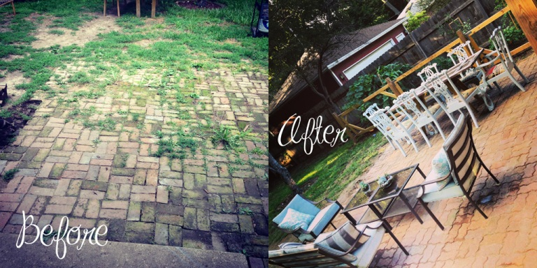 before-after Patio DIY