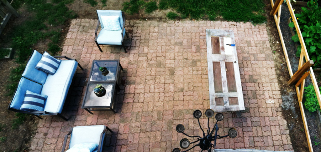 diy brick patio