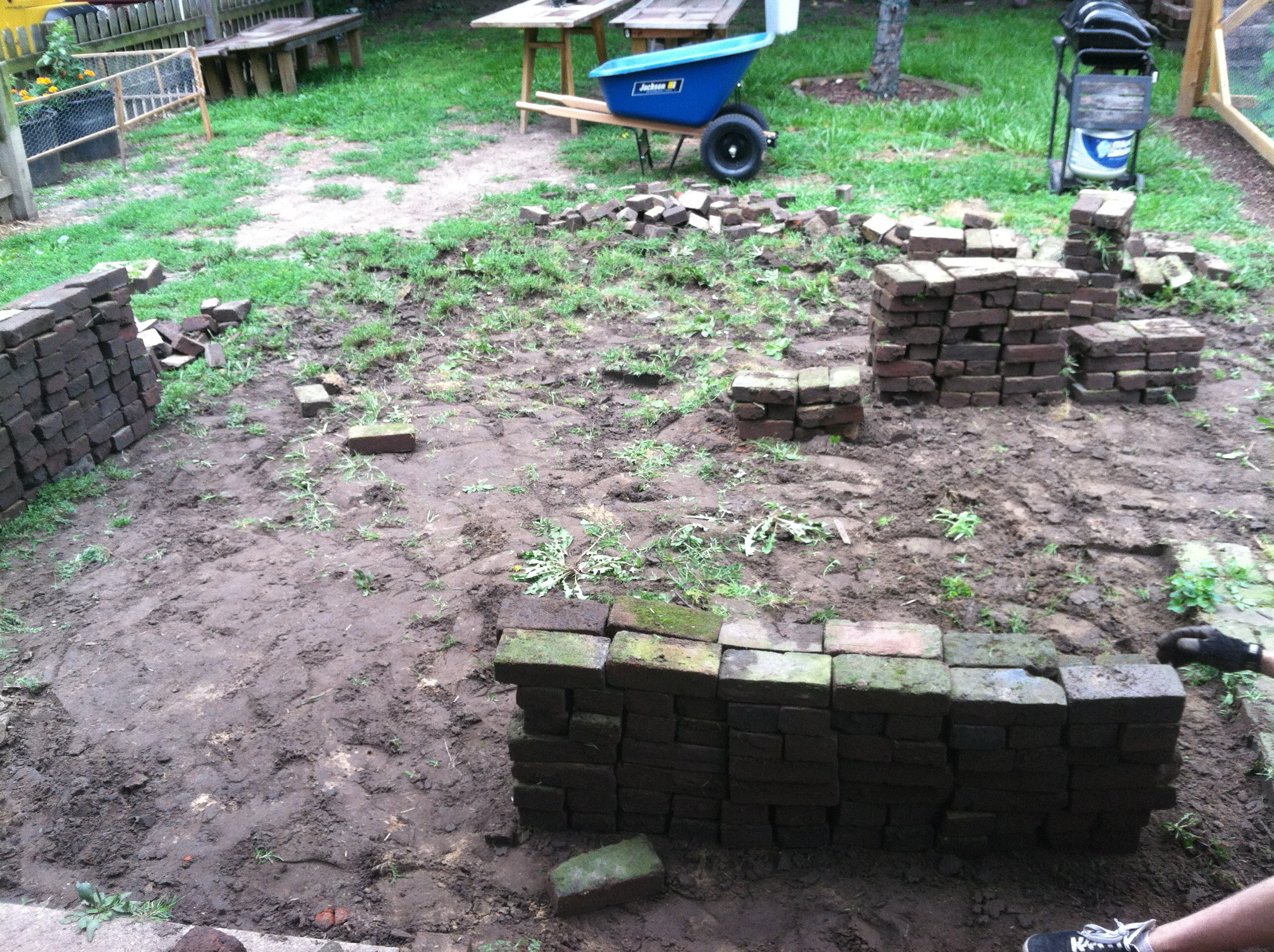 Diy Brick Patio. Next, We Did The Responsible Thing And Called The Know  Before You Dig Numberu2026 Then We Realized It Was A Holiday Weekend And We May  As Well ...