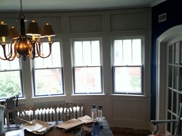 painted the dining room